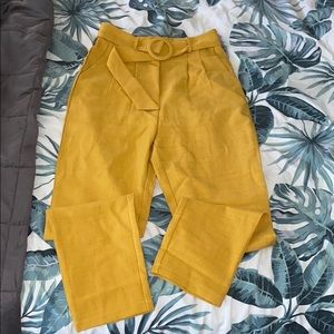 Mustard colored work pant